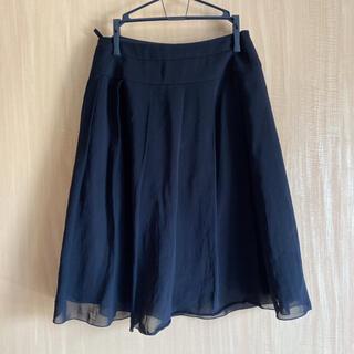 インディヴィ(INDIVI)のINDIVIフレアプリーツスカート(ひざ丈スカート)