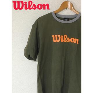 wilson - ウィルソン Wilson バスケ テニス カーキ オリーブ オレンジ