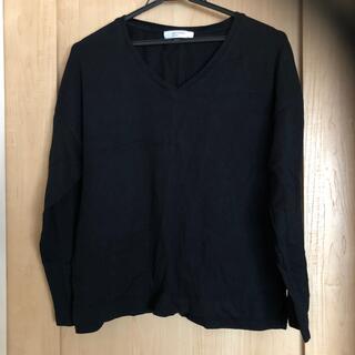 バックナンバー(BACK NUMBER)のBACK NUMBER 黒 ロングTシャツ バックナンバー(Tシャツ(長袖/七分))