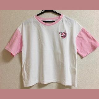 スピンズ(SPINNS)の【最終値下げ】SPINNS スピンズ 半袖 夏服 韓国 いちごミルク(Tシャツ(半袖/袖なし))