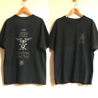 NEIGHBORHOOD - ネイバーフッド STUSSY コラボ スカル Tシャツ M ブラック xpv