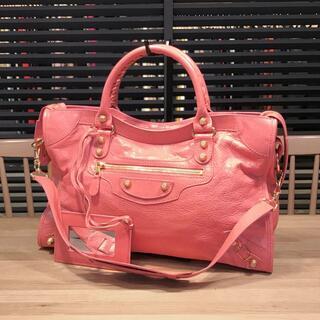 Balenciaga - 良品 バレンシアガ ジャイアントシティ ピンク 2WAYハンドバッグ