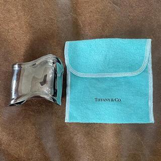 Tiffany & Co. - TIFFANY ボーンカフ ミディアム チャコールカラーフィニッシュ