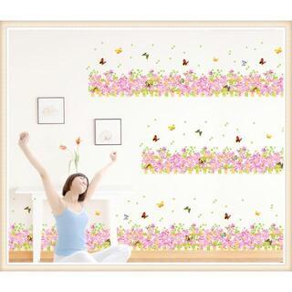 ウォールステッカー ウォールシール  壁紙シール 花 蝶々 M19(その他)