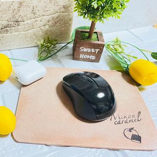マウスパッド ヌメ床革(PC周辺機器)