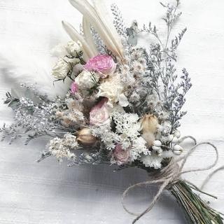 ラナンキュラスと小花のナチュラルスワッグ(ドライフラワー)