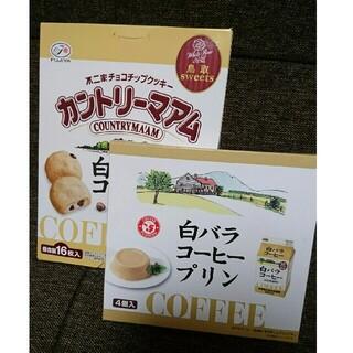 【白バラコーヒー】カントリーマアム、プリン セット売り(菓子/デザート)