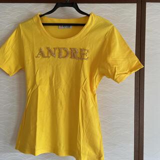 アンドレルチアーノ(ANDRE LUCIANO)のゴールドビジュー付きTシャツ(Tシャツ(半袖/袖なし))