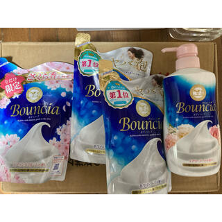 ギュウニュウセッケン(牛乳石鹸)のバウンシアボディソープ 4品(ボディソープ/石鹸)