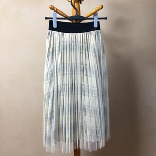 ラグナムーン(LagunaMoon)のチェックチュールスカート ラグナムーン(ひざ丈スカート)