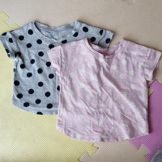 ムジルシリョウヒン(MUJI (無印良品))の良品計画 無印良品 Tシャツ 80cm 2枚(Tシャツ)