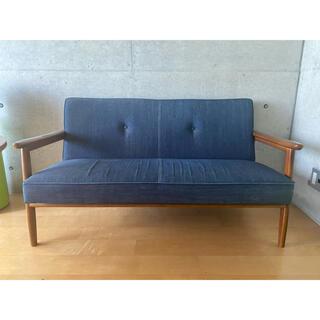 カリモクカグ(カリモク家具)のカリモク60|Kチェア2シーター カイハラ社 デニムソファ(二人掛けソファ)