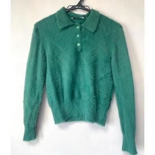 ZARA - ZARA ふわふわポロシャツ Mサイズ グリーン