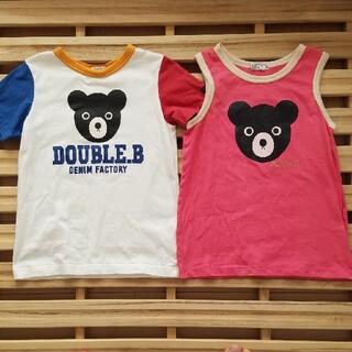 ダブルビー(DOUBLE.B)のダブルビー Tシャツ タンクトップ ミキハウス(Tシャツ/カットソー)