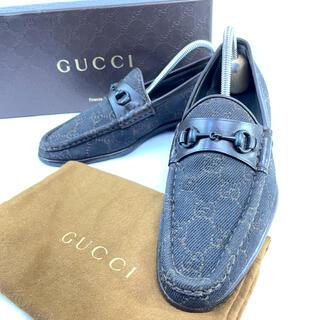 グッチ(Gucci)の【美品】グッチ ホースビット キャンパス GG柄 ローファー 35C(ローファー/革靴)
