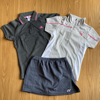 アディダス(adidas)のレディーステニスウェア3点セット(ウェア)