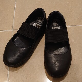フィットフロップ(fitflop)のfitflop US7  黒(ローファー/革靴)