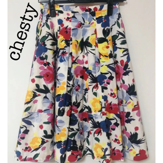 Chesty - 値下げ 美品★カラフルフラワースカート
