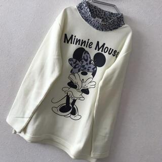 ディズニー(Disney)のレディース Disney ミニーマウス モックネック スウェット トレーナー L(トレーナー/スウェット)