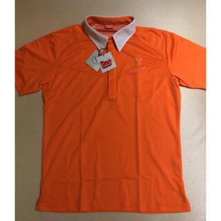 プーマ(PUMA)のTomi様  PUMA   オレンジメンズポロシャツ  L size(ウエア)