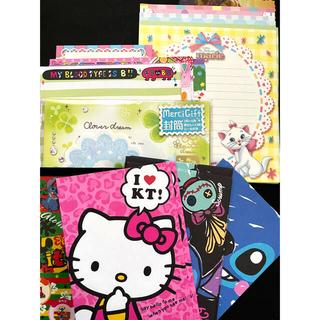 ディズニー(Disney)のメモ、便箋、封筒のセット(カード/レター/ラッピング)