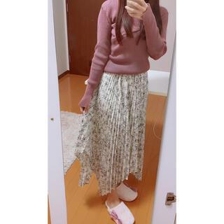 アストリアオディール(ASTORIA ODIER)のアシンメトリーロングプリーツスカート♡ビス ZARA ザラ グレイル GRL(ロングスカート)