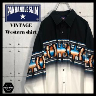 アートヴィンテージ(ART VINTAGE)の【レアデザイン】PANHANDLE SLIM ウエスタンシャツ マルチカラー L(シャツ)