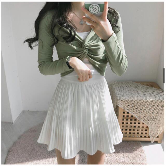 GOGOSING(ゴゴシング)のフレアスカート ホワイト レディースのスカート(ミニスカート)の商品写真