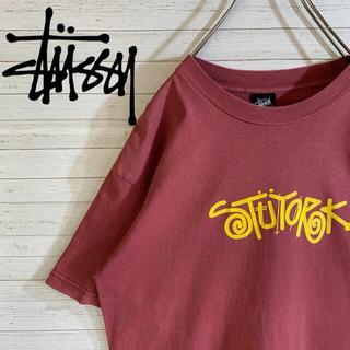 STUSSY - 【STUSSY】ステューシー メキシコ製 デカロゴ 半袖 Tシャツ