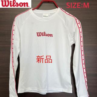 ウィルソン(wilson)のWilson  ウィルソン 長袖 Tシャツ 新品 白(Tシャツ(長袖/七分))