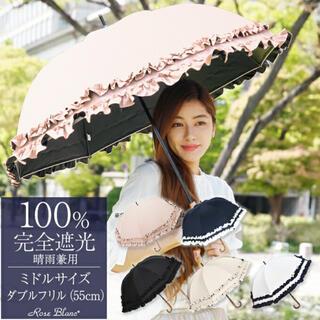 芦屋ロサブラン 100%完全遮光日傘 ミドル(傘)