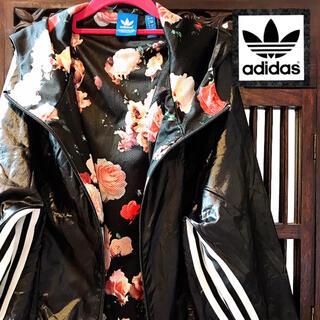 adidas - アディダス ウィンドブレーカー ナイロンパーカー ジャージ 薔薇 花柄