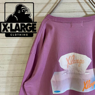 エクストララージ(XLARGE)の【X-LARGE】希少デザイン 人気カラー ペールトーン ロングスリーブTシャツ(Tシャツ/カットソー(七分/長袖))