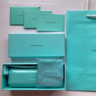 ティファニー(Tiffany & Co.)のティファニー メガネケース メガネ拭き クロス 箱 紙袋 一式セット 美品(サングラス/メガネ)