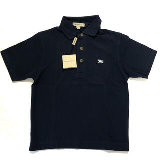 BURBERRY - バーバリー ポロシャツ サイズ110 120 ネイビー 半袖 BURBERRY