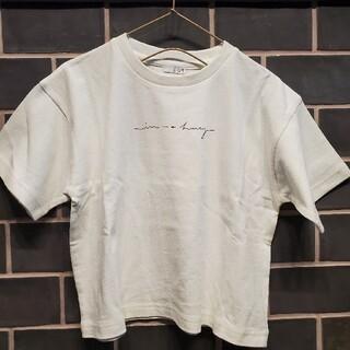 ローリーズファーム(LOWRYS FARM)の新品☆ローリーズファーム バックプリント 半袖Tシャツ☆100 110 白 花(Tシャツ/カットソー)