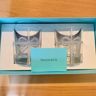 Tiffany & Co. - TIFFANY & CO ティファニーボウ リボングラス2点セット/食器/