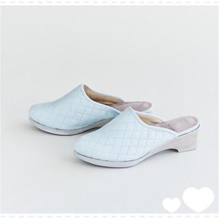 mina perhonen - 【美品】ミナペルホネン シューズ サンダル ライトブルー35