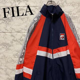 フィラ(FILA)のフィラ ナイロンジャケット ビッグ刺繍ロゴ ビッグシルエット 90's(ナイロンジャケット)