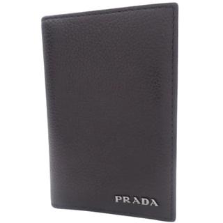 プラダ(PRADA)のプラダカードケース カーフ ブラック黒 40800072469(名刺入れ/定期入れ)