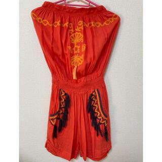アナップミンピ(anap mimpi)のエスニック刺繍タッセルオールインワン (オールインワン)