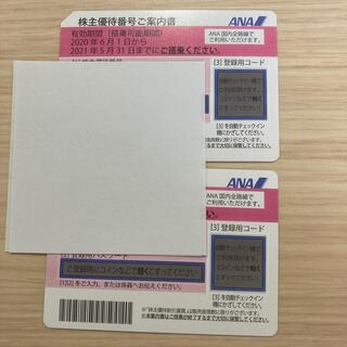エーエヌエー(ゼンニッポンクウユ)(ANA(全日本空輸))のANA 株主優待券 2021/11/30 2枚(その他)
