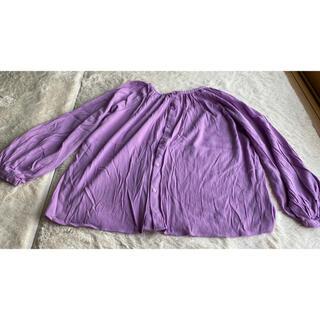 ジーユー(GU)のGU  紫  トップス   春 夏 服(チュニック)