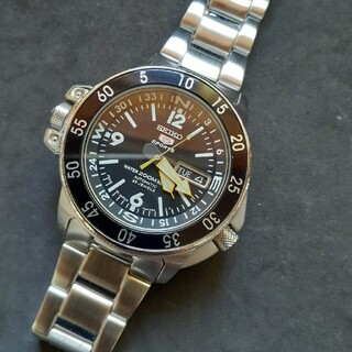 セイコー(SEIKO)のセイコー5 スポーツ ブラック アトラス 自動巻き(腕時計(アナログ))