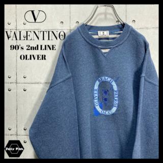 アートヴィンテージ(ART VINTAGE)の【激レア】イタリア製 90's OLIVER by VALENTINO 刺繍ロゴ(スウェット)