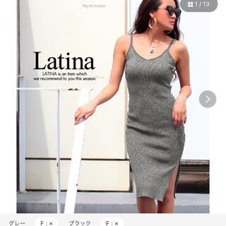 アナップラティーナ(ANAP Latina)のLatina サイドスリットキャミワンピ(ひざ丈ワンピース)