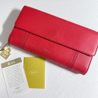 フォッシル(FOSSIL)のFOSSIL 長財布 赤 新品未使用  (財布)