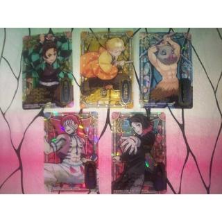 BANDAI - 【鬼滅の刃】ステンドグラスカード パックver. 箔押し レア 5枚セット