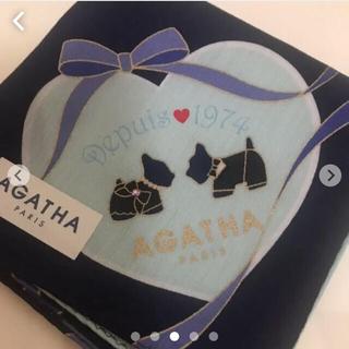 アガタ(AGATHA)のAGATHA パリの風景 可愛いワンちゃん 新品 タグシール付き(ハンカチ)