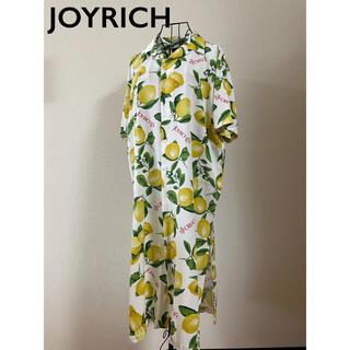 ジョイリッチ(JOYRICH)のJOYRICH ジョイリッチ レモン ロングワンピース 開襟 M(ロングワンピース/マキシワンピース)